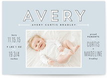 Modern Moniker Birth Announcements