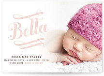 Bella Birth Announcements