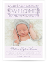 Our Princess Birth Announcements