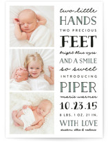 Sweet Type Birth Announcements