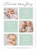 Twin Joy Birth Announcements