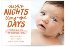 Sleepless Nights Birth Announcements