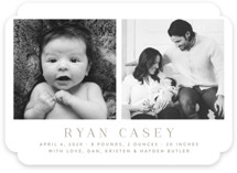 Pure and Simple Birth Announcements