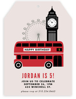 London Calling Children's Birthday Party Invitations