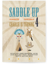 Saddle Up Children's Birthday Party Invitations