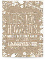 Craft and Florals Children's Birthday Party Invitations