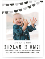 Baby Bunting Children's Birthday Party Invitations