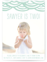 Watercolor Bunting Children's Birthday Party Invitations