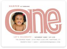 Big One Children's Birthday Party Invitations