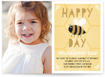 Happy Bee Day Children's Birthday Party Invitations
