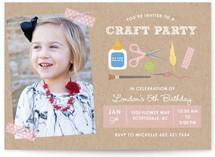 Craft Party Children's Birthday Party Invitations