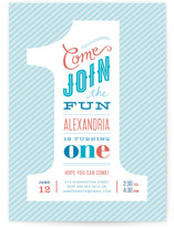 The Big One Kids Party Invitations