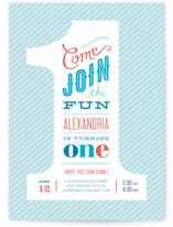 The Big One Children's Birthday Party Invitations