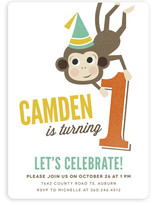 Our Little Monkey Children's Birthday Party Invitations