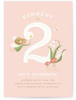 Vintage Woodland Fairy Children's Birthday Party Invitations