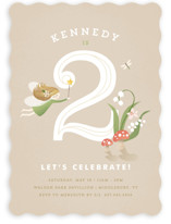 Vintage Woodland Fairy Children's Birthday Party Invitations