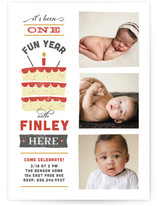 It's Been One Fun Year Kids Party Invitations