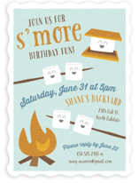 S'More Fun Kids Party Invitations