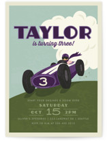 Start Your Engines Kids Party Invitations