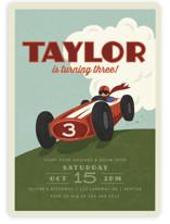 Start Your Engines Children's Birthday Party Invitations