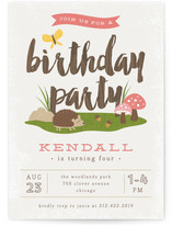 Woodland Children's Birthday Party Invitations