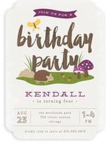 Woodland Children's Birthday Party Invitations