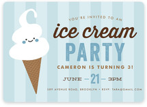 Ice Cream Parlor Children's Birthday Party Invitations