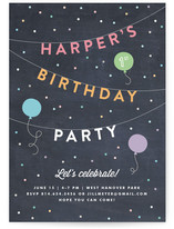 Bright Birthday Bunting Children's Birthday Party Invitations