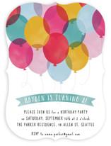 Birthday Balloons Children's Birthday Party Invitations