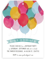 Birthday Balloons Kids Party Invitations