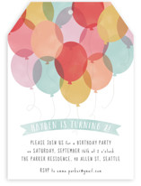 Birthday Balloons Children's Birthday Party Invitations