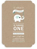 Onederful Elephant Children's Birthday Party Invitations