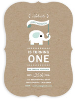 Onederful Elephant Children's Birthday Party Invitations