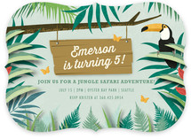 Jungle Safari Adventure Children's Birthday Party Invitations