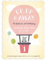 Up, Up & Away Children's Birthday Party Invitations