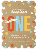 First Confetti Children's Birthday Party Invitations