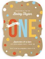 First Confetti Children's Birthday Party Invitations