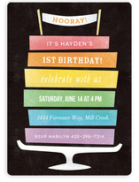 Rainbow Cake Children's Birthday Party Invitations