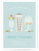 Candy Shoppe Children's Birthday Party Invitations