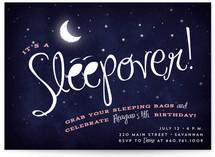 Starry Sleepover Kids Party Invitations
