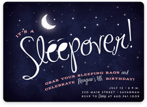 Starry Sleepover Children's Birthday Party Invitations