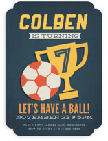 Soccer Game Time Children's Birthday Party Invitations