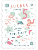 Sirena Children's Birthday Party Invitations