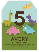 Dino Party Children's Birthday Party Invitations