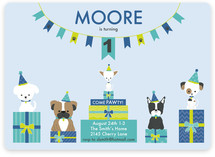 Pawty Time Children's Birthday Party Invitations