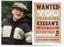 Wild West Children's Birthday Party Invitations