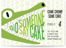 Did Someone Say Cake Kids Party Invitations