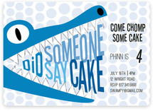 Did Someone Say Cake Children's Birthday Party Invitations