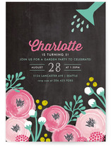 Blooming Garden Party Children's Birthday Party Invitations
