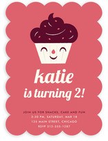 Sweet Cupcake Children's Birthday Party Invitations